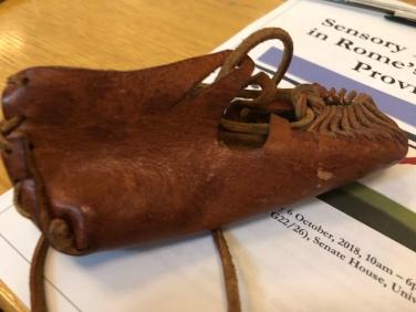 A leathery shoe